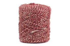 Hennep touw twisted rood 3.5 mm dik 10 meter