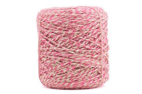 Hennep touw twisted roze 3.5 mm dik 10 meter