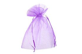 Organza zakje 7.5 x 10 cm Lavendel
