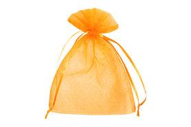 Organza zakje 7.5 x 10 cm Oranje