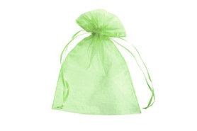 100 organza zakjes 7.5 x 10 cm Lime groen