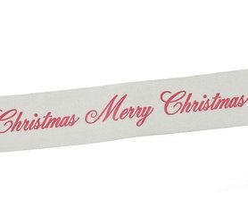 Kerstlint merry christmas 25 mm breed