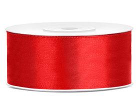Rood satijn lint 25 mm breed
