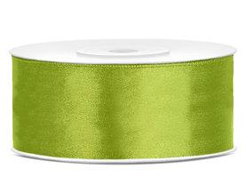 Lime groen satijn lint 25 mm breed