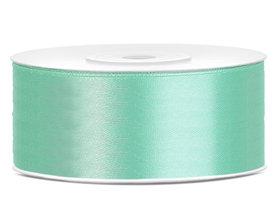 Mint satijn lint 25 mm breed