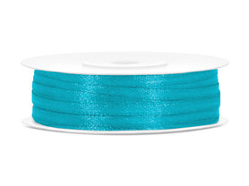 Turquoise satijn lint 3 mm breed