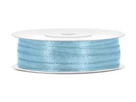 Licht blauw satijn lint 3 mm breed