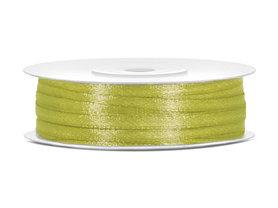 Olijf groen satijn lint 3 mm breed