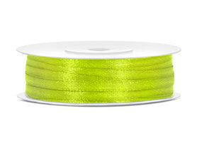 Neon groen satijn lint 3 mm breed