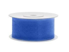 Organza lint 38 mm blauw