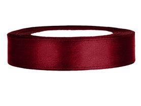 Bordeaux rood satijn lint 1.5 cm breed