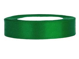 Groen satijn lint 1.5 cm breed