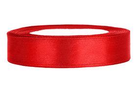Rood satijn lint 1.5 cm breed