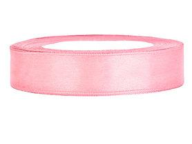Roze satijn lint 1.5 cm breed