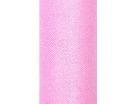 Tule lint roze glitter 15 cm breed