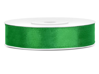 Groen satijn lint 1.2 cm breed
