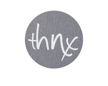 Ronde stickers thnx 10 stuks