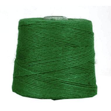 Hennep touw groen 3 mm dik 10 meter
