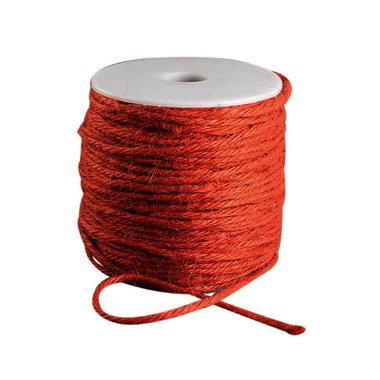 100 meter Hennep touw oranje 2 mm dikte
