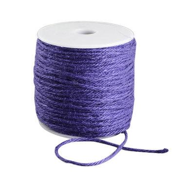 100 meter Hennep touw paars 2 mm dikte