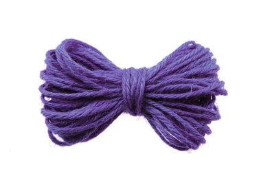 10 meter Hennep touw paars 2 mm dikte