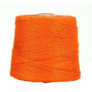 Hennep touw oranje 3 mm dik 10 meter