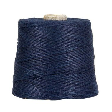 Hennep touw donker blauw 3 mm dik 10 meter
