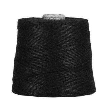 Hennep touw zwart 3 mm dik 10 meter