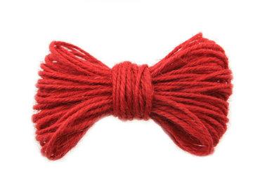 10 meter Hennep touw rood 2 mm dikte