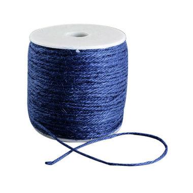 100 meter Hennep touw blauw 2 mm dikte