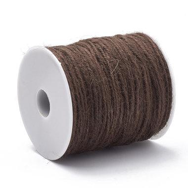 100 meter Hennep touw bruin 2 mm dikte