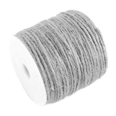 100 meter Hennep touw grijs 2 mm dikte