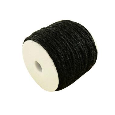 100 meter Hennep touw zwart 2 mm dikte