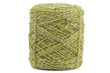 Hennep touw twisted groen 3.5 mm dik 10 meter