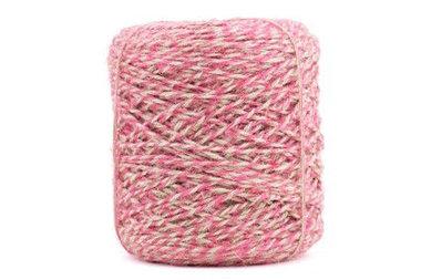 Hennep touw twisted roze 3.5 mm dik 10 meter