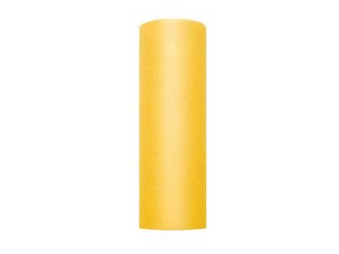 15 cm tule lint geel