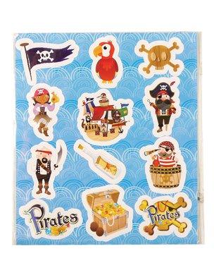 Traktatie stickers piraat