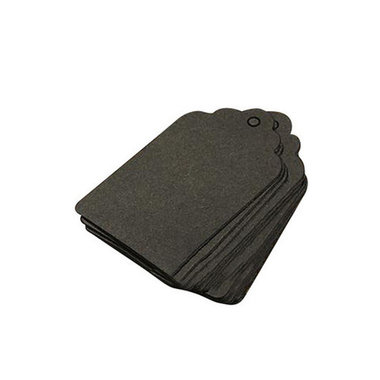 Label zwart geschulpt 3 x 5 cm 10 stuks