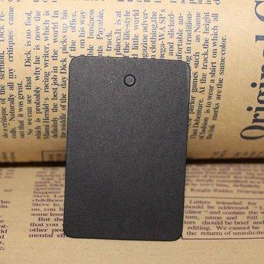 Zwart label rechthoek 4 x 6 cm 10 stuks