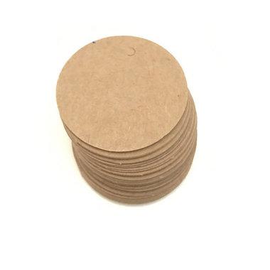 Label kraft rond 10 stuks
