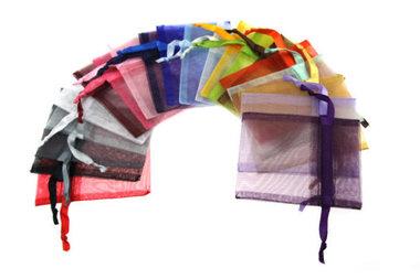 15 stuks 7.5 x 10 cm organza zakjes kleurenmix