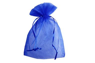 Organza zakje 7.5 x 10 cm Blauw