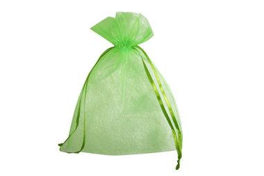 Organza zakje 12.5 x 17.5 cm Lime groen