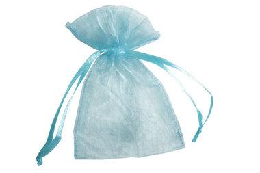 100 organza zakjes 7.5 x 10 cm Licht blauw