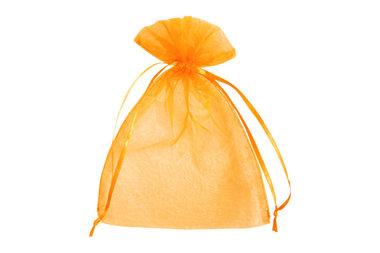 100 organza zakjes 7.5 x 10 cm Oranje