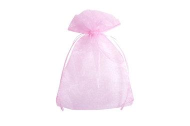 100 organza zakjes 7.5 x 10 cm Roze