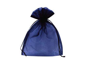 100 organza zakjes donkerblauw 7.5 x 10 cm