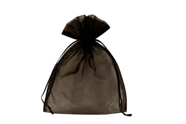 100 organza zakjes zwart 7.5 x 10 cm