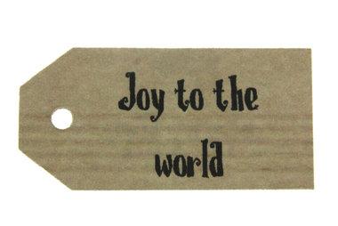 Kraft label joy to the world