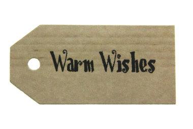 Kraft label warm wishes